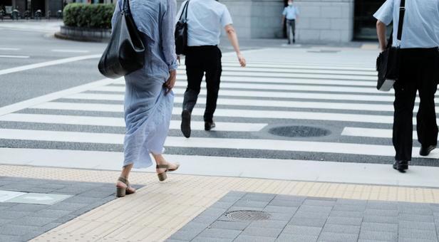 Women commuting