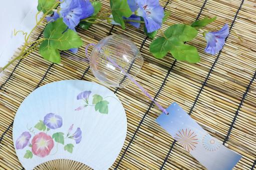 Summer image Wind chair Asagao fan