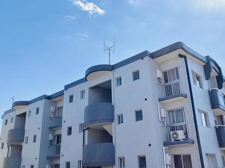 Blue sky apartment real estate