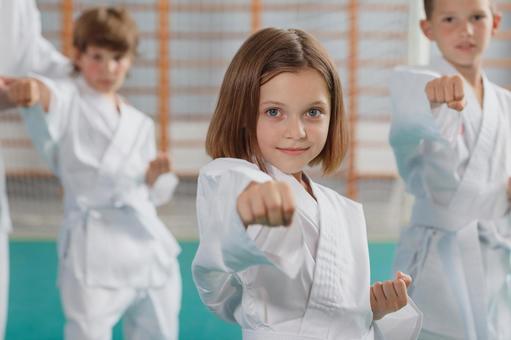 Karate classroom girl