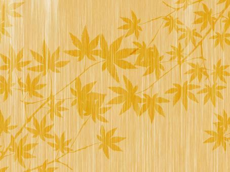 Wood grain autumn leaves background 160902