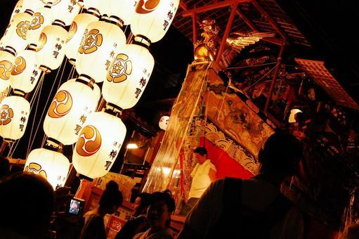 Japanese festival Gion festival lantern Yamaboko mountain car summer festival