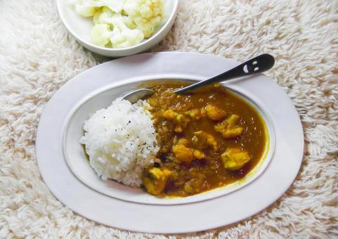 Handmade chicken curry