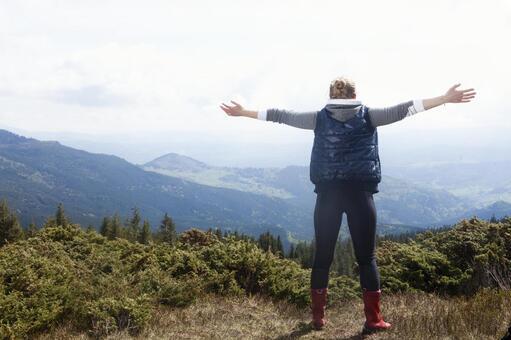 Women Trekker standing in a nice view 20