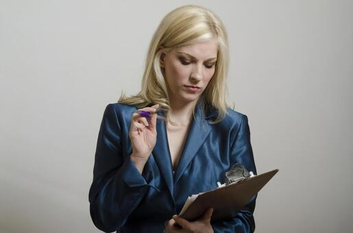Female to check documents 4