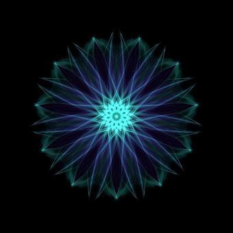 Ornament pattern 100 blue