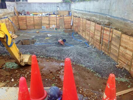 Building reconstruction foundation construction site 1