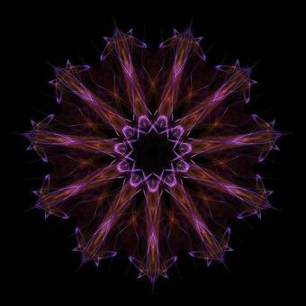 Circle Shape Art 098 Purple