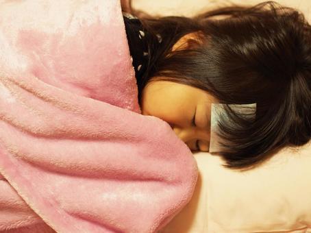 寝込む 여자 1