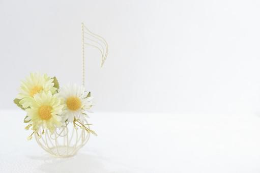 Music image / notes, flowers