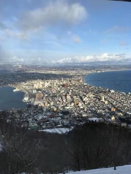 Mount Hakodate in winter