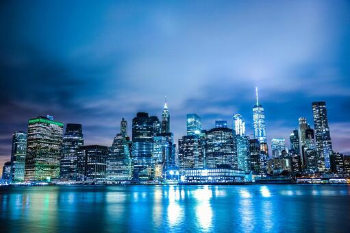 Night view of New York / Manhattan 11