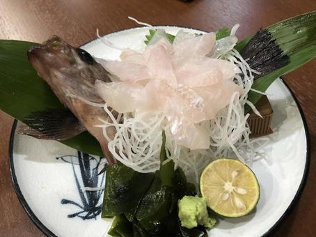 Rockfish sashimi sashimi
