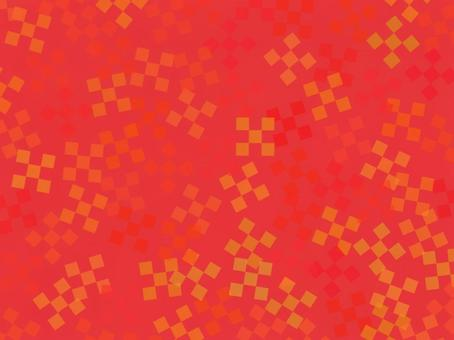 Checkered pattern background material Red