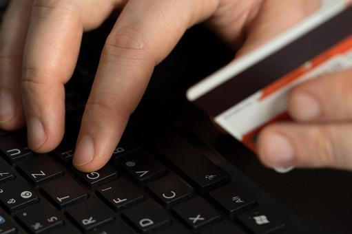 Credit card and computer 5