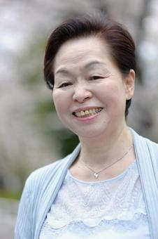 Senior woman smiling 3