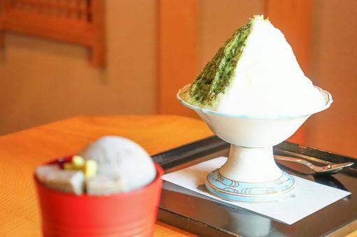 黑芝麻凍糕和刨冰④