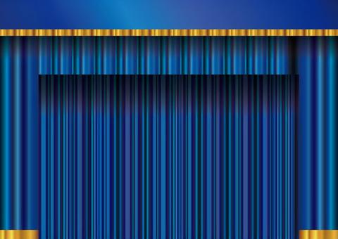 Blue curtain velvet drape curtain background stage stage presentation image illustration