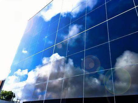 Image of building with blue sky