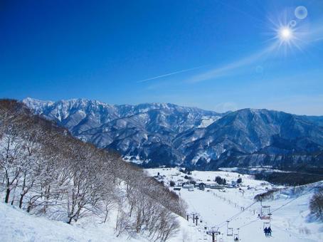 Winter ski slope landscape 0526