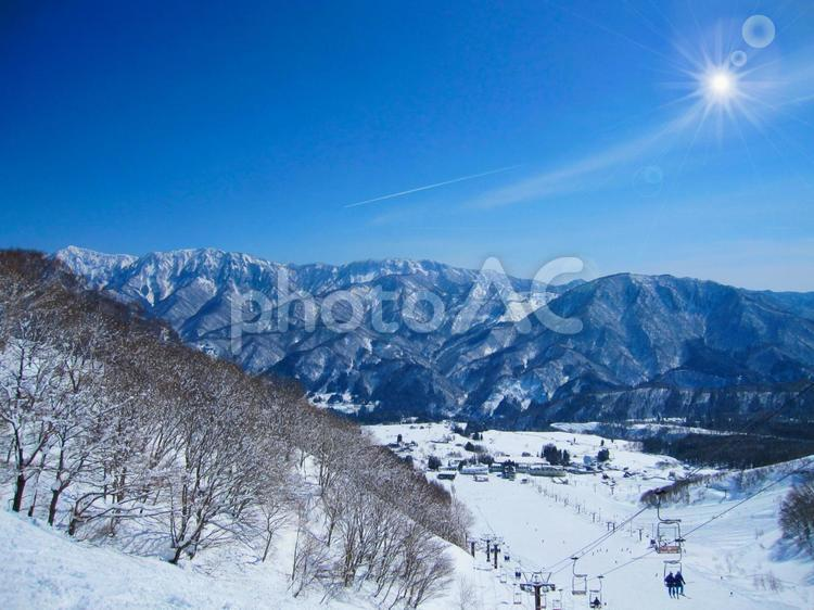 冬のスキー場(ゲレンデ)の風景 1127の写真