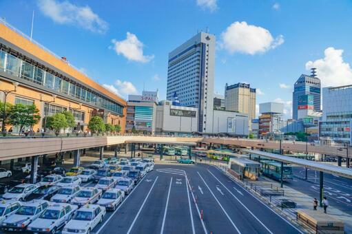 센다이 역 서쪽 출구의 거리 풍경