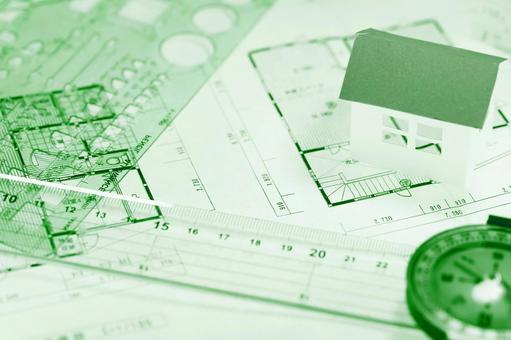 집 구조의 이미지 녹색