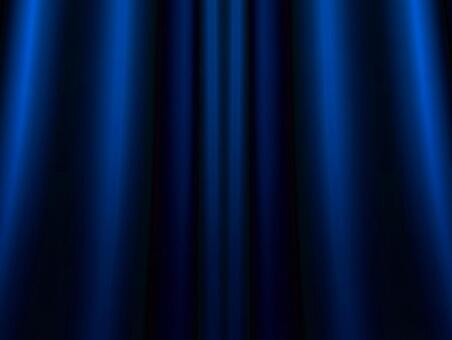 Gorgeous blue curtain background material