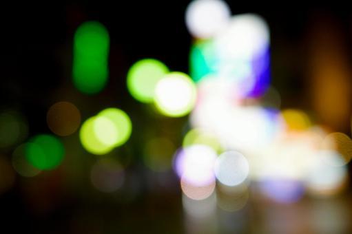 Night view / neon street / night town / image material