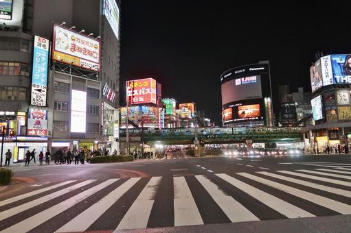 Shinjuku University Guard West intersection