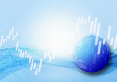 藍色地球和股票價格的圖像
