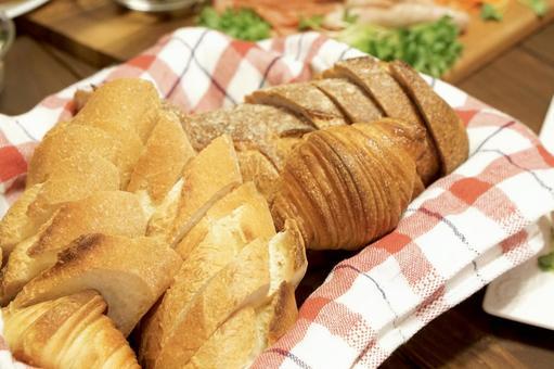 식탁 빵 오픈 샌드