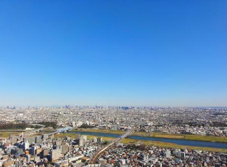 View from Tokyo from Musashi Kosugi 2