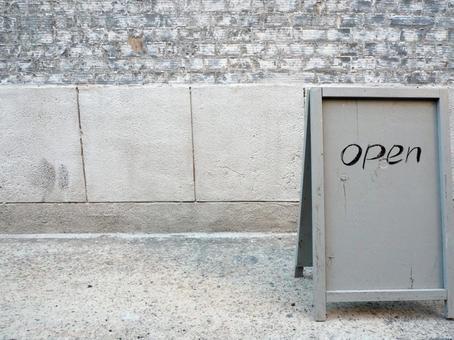 Open OPEN signboard