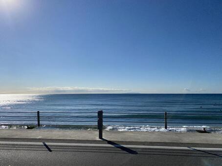 날씨가 좋은 바다
