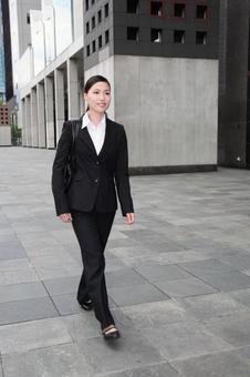 Walking business woman 1