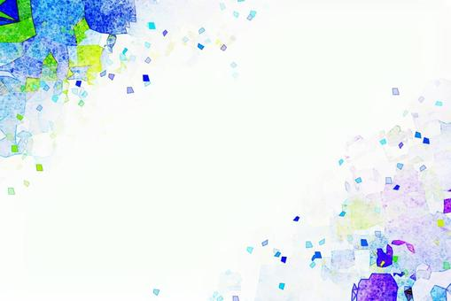 Blue watercolor texture blue background material copy space frame