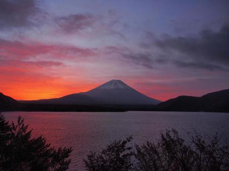Morning glow Fuji