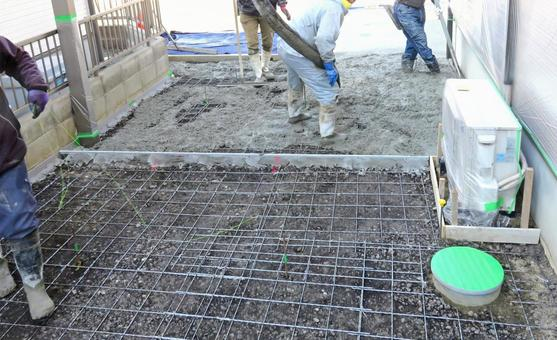 Concrete casting work