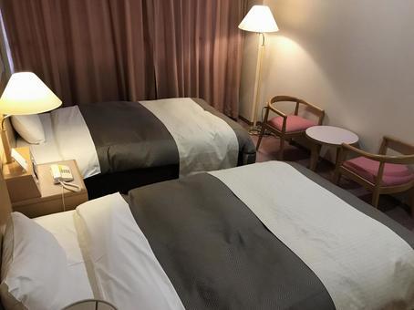 Hotel twin room