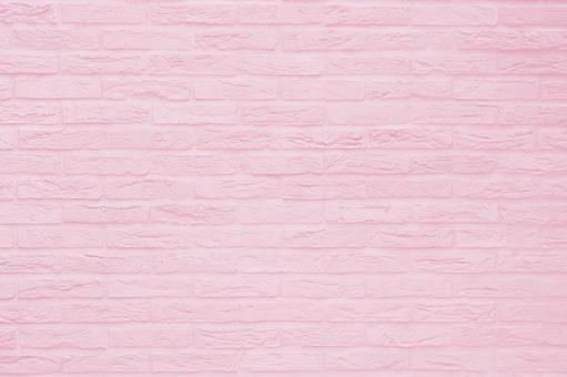 Brick background material Texture - Pink