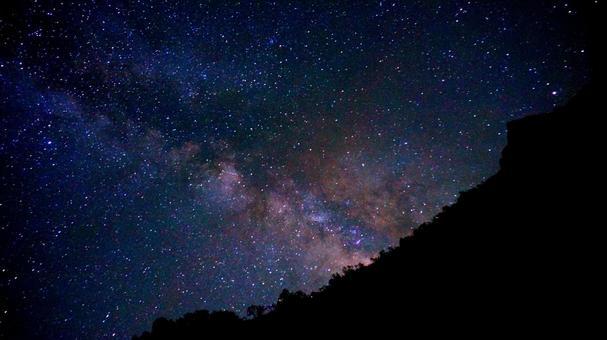 하쿠바 야리 온천에서 본 은하수