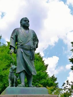 Statue of Saigo in Ueno (2) Takamori Saigo