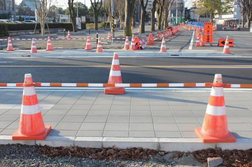 Triangular cone · color cone road construction