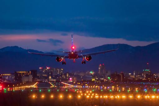 Hakodate Airport at night