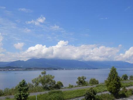 Scenery of Lake Biwa