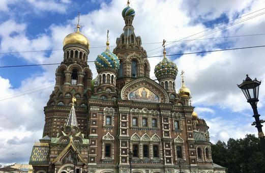 피의 교회, 상트 페테르부르크, 러시아.