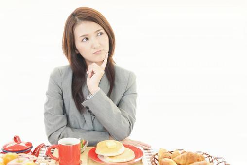 식욕 부진의 여성
