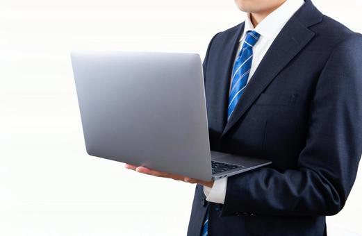 Businessman operating a PC 02