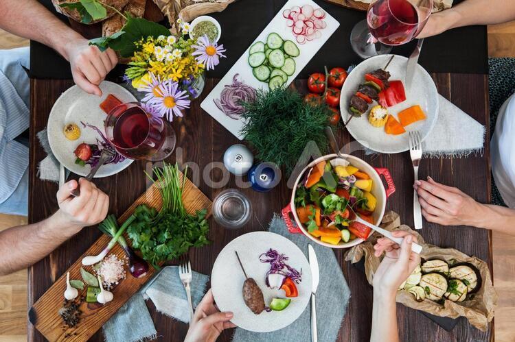 食事風景107の写真